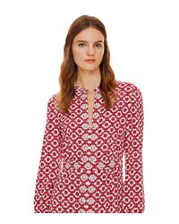 Tory Burch - Embellished Textured Stretch Silk Caftan - Lyst