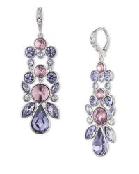 Givenchy | Purple Crystalline Pendant Earrings | Lyst