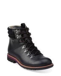 Clarks Black 'padley Alp' Plain Toe Boot for men