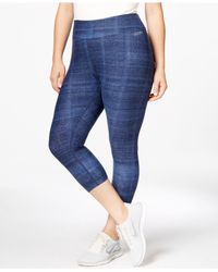 Calvin Klein | Blue Performance Plus Size Printed Cropped Leggings | Lyst