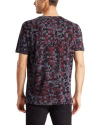 HUGO | Red 'damouflage' | Cotton Signature Print T-shirt for Men | Lyst
