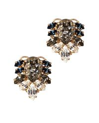 Anton Heunis | Blue Jacqueline Swarovski Crystal Earrings | Lyst