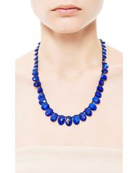 Me&Ro - Blue Graduated Lapis Bead Necklace - Lyst