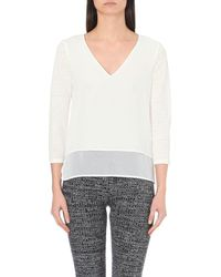 Sandro | Gray Trilce Layered Linen And Silk T-shirt | Lyst