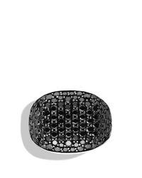 David Yurman - Metallic Pave Cushion Ring with Black Diamonds for Men - Lyst