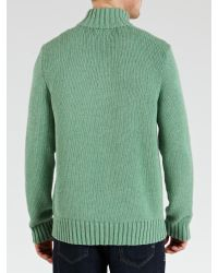 Polo Ralph Lauren - Green Zipup Cotton Jumper for Men - Lyst