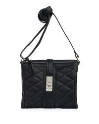 Jessica Simpson Black Vivian Quilted Crossbody Bag