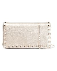 Valentino - Metallic 'rockstud' Crossbody Bag - Lyst