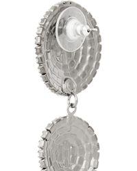 Elizabeth Cole Metallic Hematite-Plated Swarovski Crystal Earrings