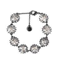 Sam Edelman | Metallic Crystal Line Bracelet | Lyst