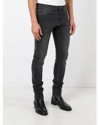 7 For All Mankind - Black Stonewashed Skinny Jeans for Men - Lyst