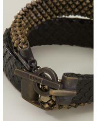 Laura B - Brown Double Strap Bracelet - Lyst