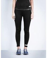 Adidas By Stella McCartney Black The Performance Seven-eighth Jersey Leggings