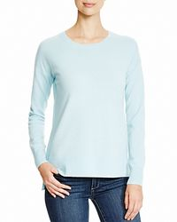 Aqua - Blue Cashmere Cashmere High Low Crewneck Sweater - Lyst