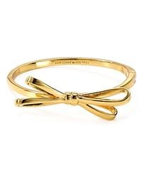 kate spade new york | Pink Tied Up Bangle | Lyst