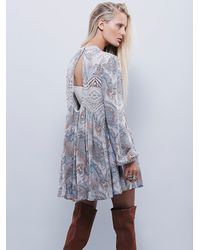 Free People | Gray Womens Sweet Thing Printed Tunic | Lyst