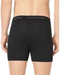 Calvin Klein Black Cotton Boxer Briefs for men