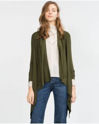 Zara | Green Wrap Jacket | Lyst