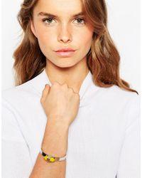 ASOS | Metallic Color Pop Shard Open Cuff Bracelet | Lyst