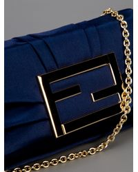 Fendi Blue Evening Bag