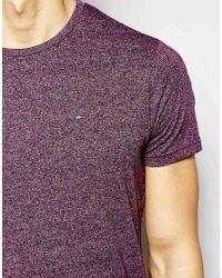 Hilfiger Denim | T-shirt With Crew Neck In Purple for Men | Lyst