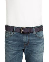 BOSS Orange Blue Leather Belt 'jadeon' for men