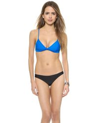 Mikoh Swimwear | Blue Belize Bikini Top - Night | Lyst