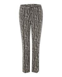 Vince Camuto - Black Slim Leg Etch Print Trousers - Lyst