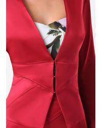 Bebe Red Tiana Seamed Jacket