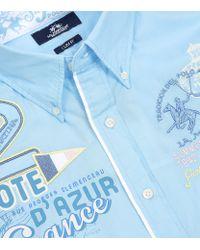 La Martina - Blue St Tropez Cote D'Azur Shirt for Men - Lyst