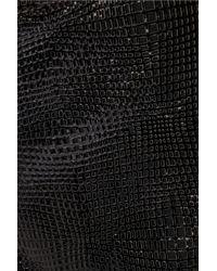 Mason by Michelle Mason Black Patent Leather-paneled Cady Shorts