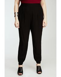 Forever 21 - Black Plus Size Classic Woven Joggers You've Been Added To The Waitlist - Lyst