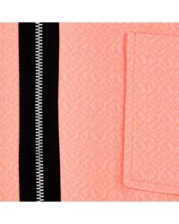 River Island Pink Light Orange Bell Sleeve Cropped Jacket