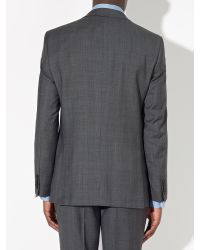 John Lewis Gray Super 100s Wool Prince Of Wales Check Tailored Suit Jacket for men