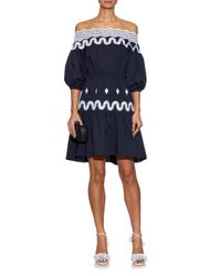 Peter Pilotto - Blue Pallas Off-The-Shoulder Dress - Lyst