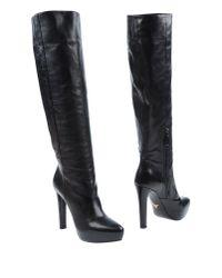 Prada - Black Boots - Lyst