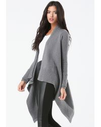 Bebe | Gray Heathered Ribbed Cover Up | Lyst