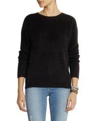 American Vintage Black Nine Nile Falls Angora-blend Sweater