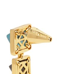 Eddie Borgo | Blue Gemstone Pyramid Drop Earrings | Lyst