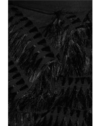 Chalayan - Black Fil Coupé Cotton-poplin Midi Skirt - Lyst