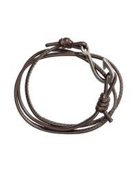 H&M | Brown Bracelet With A Hook for Men | Lyst