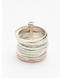 Free People | Pink Ithil Metalworks Womens Stacked Turquoise Ring | Lyst