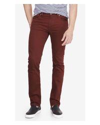 Express Red Slim Fit Rocco Burgundy Skinny Leg Jean for men