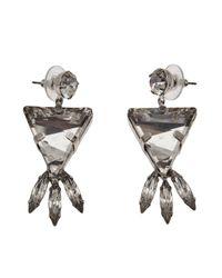 Tom Binns - Metallic Crystal Triangle Earrings - Lyst