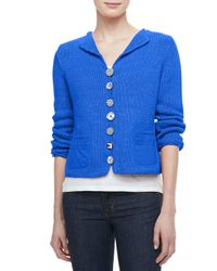Pure Handknit - Blue Bay Breeze Multi-button Cardigan - Lyst
