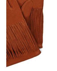 Karen Millen | Brown Fringe Glove | Lyst