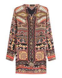 Etro - Printed Silk Tunic - Multicolor - Lyst