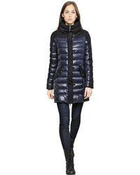 Duvetica Blue Astrea Nylon Wool Down Jacket
