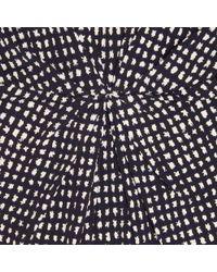 L.K.Bennett Blue Safi Colour Block and Print Dress