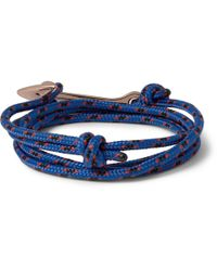 Miansai Blue Rope And Gold-Plated Anchor Bracelet for men